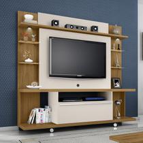Painel TV Torino Rack Bancada C/ Led Cor Cinamomo /Off White - Moveis bechara