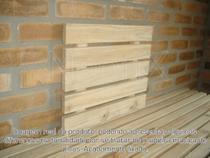 Painel Vertical Floreira, Deck, Prateleira, Mini Palet, Suporte Floreira Em Pinus Acabamento Lixado NeonX -