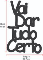 Palavra Decorativa MDF Ambientes Casa Aplique - Arte Com Madeira