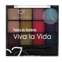 Paleta de Sombra 12 Cores Jasmyne Viva la vida -