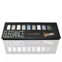 Paleta Eyes Design 10 Cores Sombras Foscas Elegance - Luisance