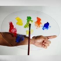 Paleta Para Pintura Em Acrílico 3mm Ovalada Artista Plástico- modelo luxo - Arte Quadro