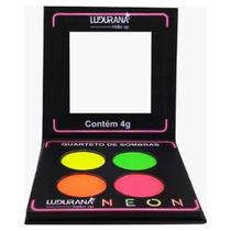 Paleta quarteto de sombras matte neon ludurana -