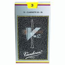 Palheta Clarineta Vandoren 3 V12 - Unitario -
