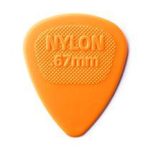 Palheta Dunlop Nylon Midi 0.67MM Laranja 443R.67 -