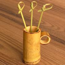 Palito/Espetinho de Bambu com  Nozinho 50 unidades - Festabox