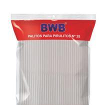 Palito para Pirulito Grande Cristal - 50 Unidades N 28 - BWB -