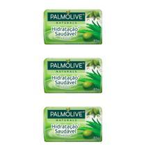 Palmolive Hidratação Saudável Sabonete Aloe 85g (Kit C/03) -