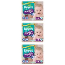 Pampers Premium Care Fralda Infantil M C/24 (Kit C/03)