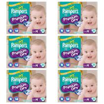 Pampers Premium Care Fralda Infantil M C/24 (Kit C/06)