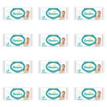 Pampers Sensitive Lenços Umedecidos Infantil C/56 (Kit C/12) -