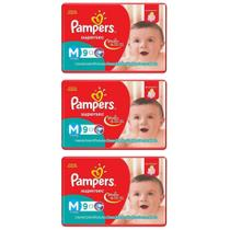 Pampers Supersec Fralda Infantil M C/9 (Kit C/03)