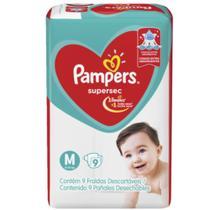 Pampers Supersec Fralda Infantil M C/9 -