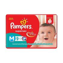 Pampers Supersec Fralda Infantil M C/9