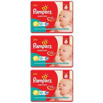 Pampers Supersec Fralda Infantil PP C/10 (Kit C/03)