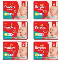 Pampers Supersec Fralda Infantil PP C/10 (Kit C/06)