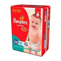 Pampers Supersec Fralda Infantil XXG C/18