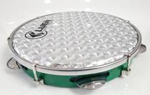 Pandeiro 10'' ABS Luen - P. Holografica Prata 3D - Cor Verde -