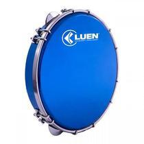 Pandeiro 10 Luen Azul C/ Pele Holografica Azul 40033az/Az -