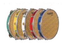 Pandeiro 10' Pele Holográfica Dourada Abs Cores Vanguarda - Spanking