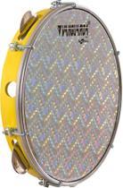 Pandeiro 10' Pele Holográfica Prata Abs Amarelo Vanguarda - Vanguarda By Spanking