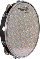 Pandeiro 10' Pele Holográfica Prata Abs Preto Vanguarda - Vanguarda By Spanking