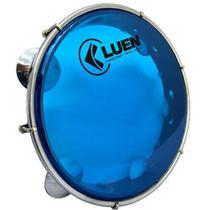 Pandeiro 10 Polegadas Azul Pele Cristal Corpo Preto (50062AZ) Luen -