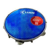 Pandeiro 10 Polegadas Pele Holográfica Azul Corpo Preto 40064 PT AZ Luen -