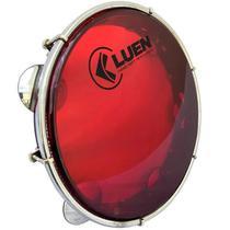 Pandeiro 10 Polegadas Vermelho Pele Cristal Corpo Preto (50062VM) Luen -