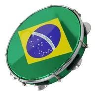 Pandeiro 10 Torelli Verde - Pele Brasil Injetado -