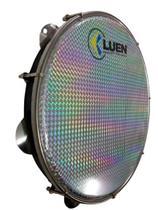 Pandeiro 12 Polegadas Abs Pele Holográfica Preto com Prata (40157PT/PRS) Luen -