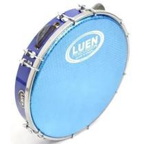 Pandeiro Abs 10 Polegadas Pele Holográfica Azul Luen -