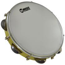 """Pandeiro Acrilico 10"""" Leitosa Amarelo 82A YL - Phx Instrumentos"""