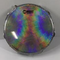 Pandeiro Acrílico 10 Pele Holográfica Azul PHX m! 94A -