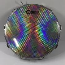 Pandeiro Acrílico 10 Pele Holográfica Verde PHX m! 94A -