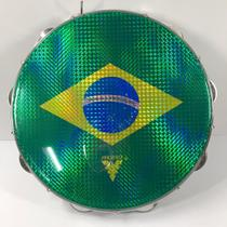 Pandeiro Acrílico 12 Pele Brasil Azul PHX m! 97A -