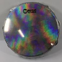 Pandeiro Acrílico 12 Pele Holográfica Azul PHX m! 95A -