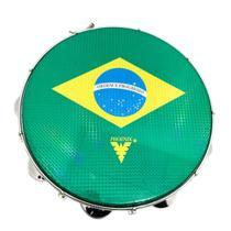 Pandeiro Acrilico Azul 12 Polegadas Gs Pele Brasil 97A Bl - Phx