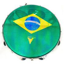 Pandeiro Acrílico Phx 96A YL 10 Pele Brasil Amarelo - Phoenix
