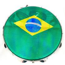 "Pandeiro Acrílico Phx 97A BL 12"" Azul Pele Brasil Verde -"