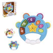 Pandeiro Baby Musical Infantil Com Luz E Som Brinquedo Bebê - Wellkids