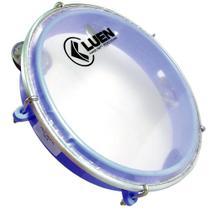 Pandeiro Infantil 8 pol Azul Luen Percussão Instrumento Musical Junior 40084 VD -