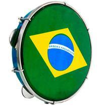 Pandeiro Luen 10 ABS Azul com Pele Brasil - Luen Percussion