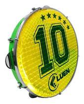 Pandeiro Luen 10 Abs Pele Holografica Camisa 10 Verde -
