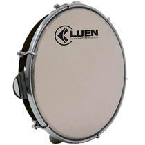 """Pandeiro Luen 10"""" ABS Preto com Pele Holográfica Prata - Luen Percussion"""
