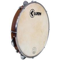 "Pandeiro Luen 10"" Imbuia Serie Guetto Cromado Pele Cabra - Luen Percussion"