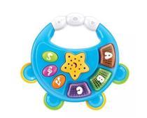 pandeiro musical infantil baby com luzes a pilha brinquedo - Art Brink