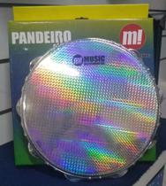Pandeiro Profissional Madeira 12 Polegadas Garras Duplas Pele Holográfica Phx Pd12 Ho - Phoenix