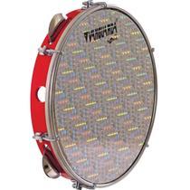 Pandeiro Spanking ABS Vermelho com Pele Holográfica Aro 10 -