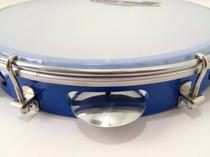 Pandeiro torelli azul injetado em abs pele nailon tp309 -